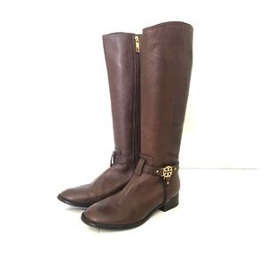 Tory Burch brown leather knee high boots